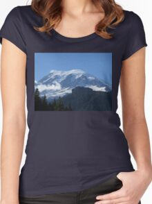 Mount Rainier from Box Canyon Women's Fitted Scoop T-Shirt