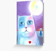 Under the Moon: Cats Greeting Card