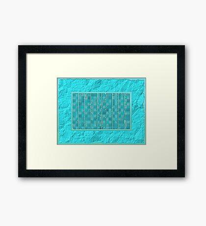 Blue Touch Framed Print