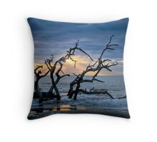 Wood and Sea Throw Pillow