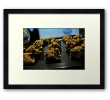 Chocolate Chip cookie dough Framed Print