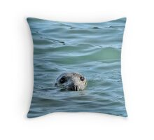 Grey Seal Throw Pillow