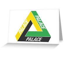 Palace Skateboards Tri-Ferg Logo Lucien Clarke Greeting Card