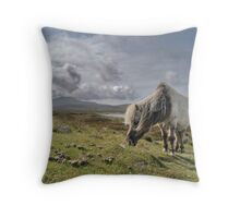 Hebrides, Wild Pony Throw Pillow