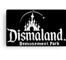 Black and white Dismaland Canvas Print