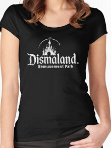 Black and white Dismaland Women's Fitted Scoop T-Shirt