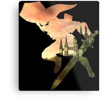 Link and Hyrule - Twilight Princess Metal Print