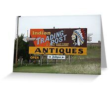 Route 66 - Oklahoma Trading Post Greeting Card