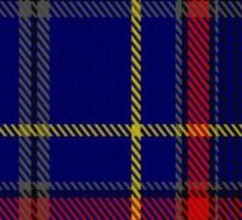 00458 Blue Bough from Orkney Tartan  Sticker