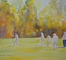 Hythe - the cricket match by Beatrice Cloake