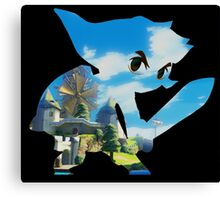 Link and Hyrule - Wind Waker Canvas Print