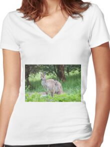 Beautiful Floe & her latest Joey! 'Arilka' Mount Pleasant. Women's Fitted V-Neck T-Shirt