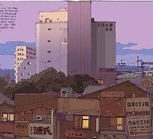 Noborito skyline dawn by David  Kennett