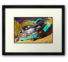 MK3 Golf VR6 Light Painting Framed Print