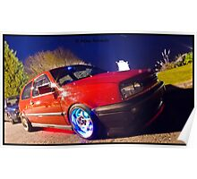 MK3 Golf GTI Light Painted Poster