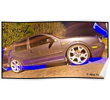 MK4 Golf GTI On X5 Rims - Light Painted Poster