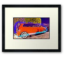 Polo GTI On BBS - Light Painted Framed Print