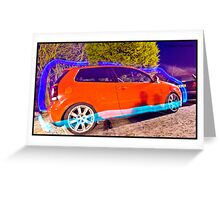 Polo GTI On BBS - Light Painted Greeting Card