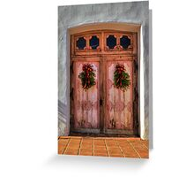Wooden Doors of God (San Miguel Spanish Mission, California) Greeting Card