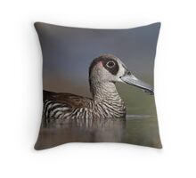 Pink-eared Duck - Oil Tree Lagoon Throw Pillow