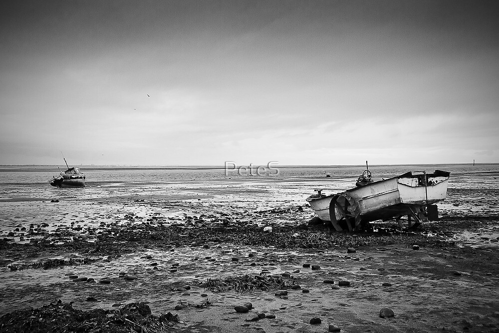 Boats on Beach by Peter Stone