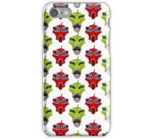 Creepy Insectoid Aliens in Red and Green iPhone Case/Skin