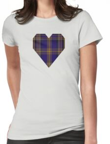 00461 Blue Matheson Hunting Tartan  Womens Fitted T-Shirt