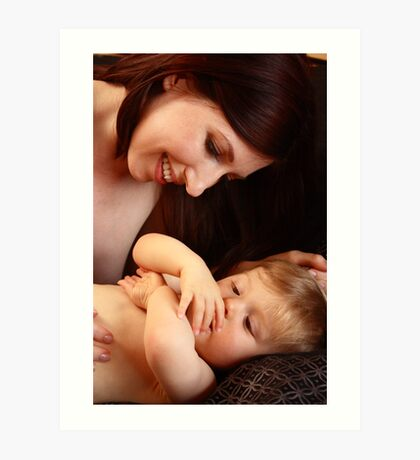 Mother And baby son Art Print