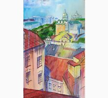 Original Mixed Media Painting, Cityscape Summer Rain, Kiev Ukraine Unisex T-Shirt