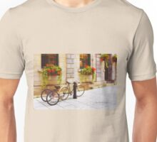 Tandem Bicycle and Flowers 2 Unisex T-Shirt
