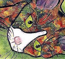 Calico Cat by Elizabeth C. Landry