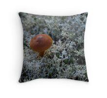 Brown Mushroom Throw Pillow