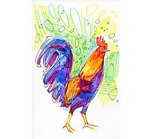 Rooster drawing - 2011 Photographic Print