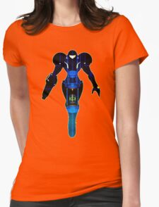 Samus and Metroid Retro Womens Fitted T-Shirt