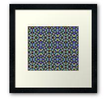 Blue Green Abstract Design Pattern Framed Print