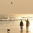 sunset beach walk by Stephen Frost