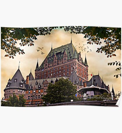 Chateau Frontenac at Sunset Poster