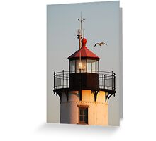 Lantern House, Eastern Point Light as Sunset Greeting Card