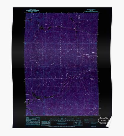 USGS Topo Map Oregon Dolph 279669 1985 24000 Inverted Poster