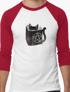 witchcraft cat Men's Baseball ¾ T-Shirt