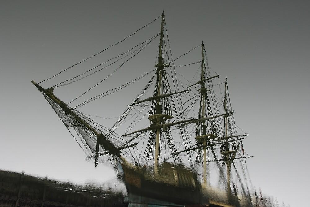 Ghost Ship of Salem, Massachusetts by Steve Borichevsky