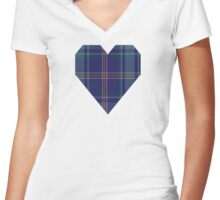 00464 Blue Ridge Highlands Heritage District Tartan  Women's Fitted V-Neck T-Shirt