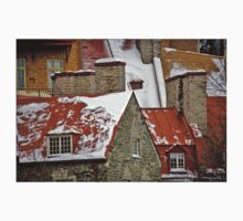 Angular Rooftops, Old Quebec One Piece - Short Sleeve