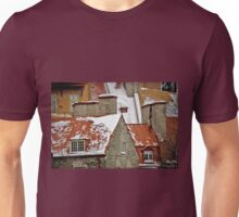Angular Rooftops, Old Quebec Unisex T-Shirt