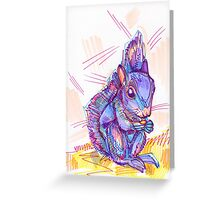 Squirrel drawing - 2011 Greeting Card