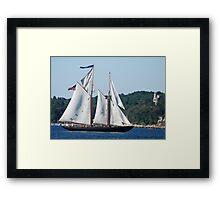 Schooner Virginia on Gloucester Harbor Framed Print