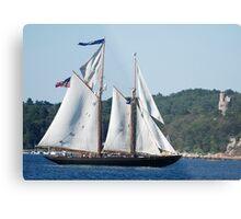 Schooner Virginia on Gloucester Harbor Metal Print