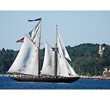 Schooner Virginia on Gloucester Harbor Photographic Print