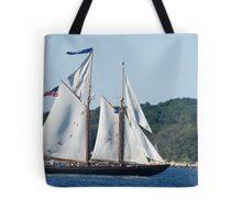 Schooner Virginia on Gloucester Harbor Tote Bag