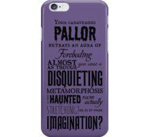 A Disquieting Metamorphosis iPhone Case/Skin